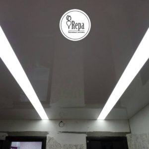 Натяжной потолок фото и примеры световых линий