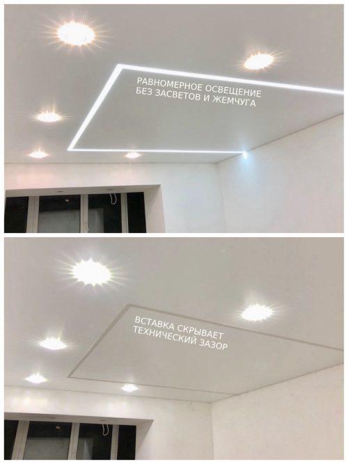 Какие световые линии на потолке бывают?