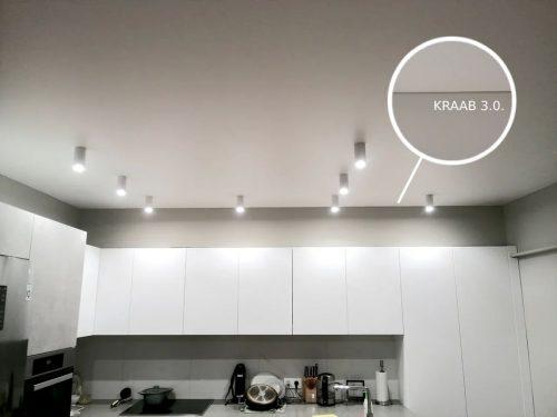 Натяжной потолок на кухне с системой крепления Kraab 3.0