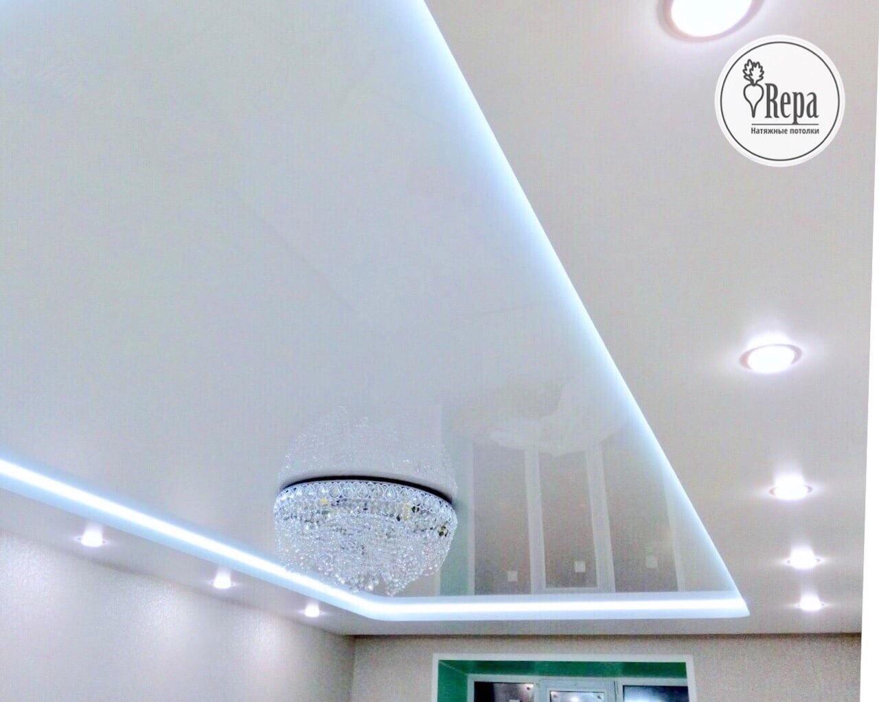 Топ-10: двухуровневые натяжные потолки