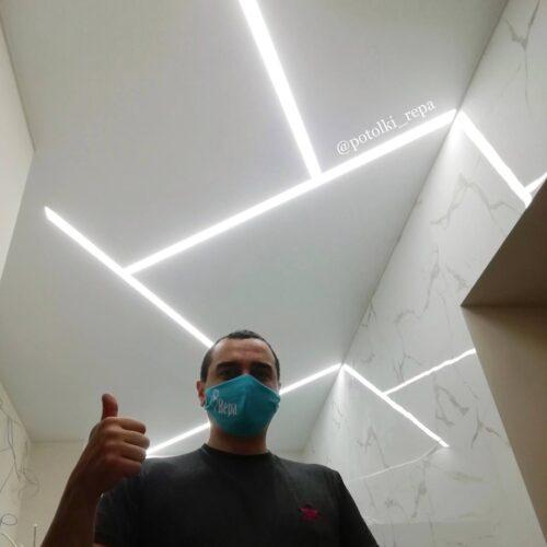 Натяжные потолки со световыми линиями со скидкой 30% только в мае!